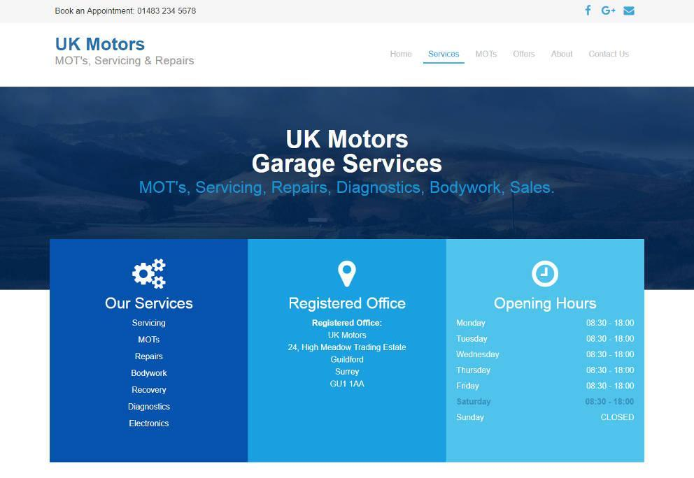 Garage Websites 4 U Example Website 6 Image