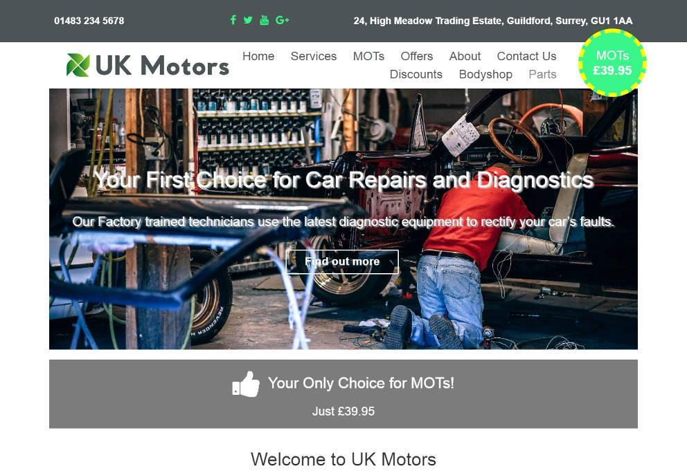 Garage Websites 4 U Example Website 8 Image