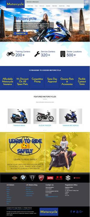 Garage Websites 4U example website for a motorcycle dealer
